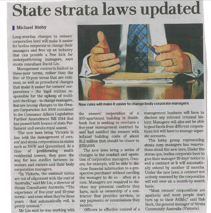 State Strata Laws Updated