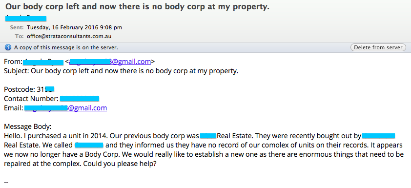 body corporate manager ran away with the money